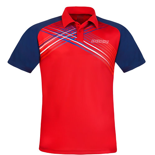 Riva Polo-Shirt (Red/Navy)