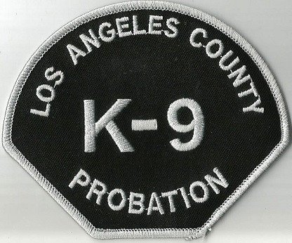 Los Angeles County Probation K-9 Patch
