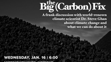 "Reserve your seat! Dr. Steve Ghan returns to Sandpoint on January 16th for ""The Big Carbon Fix&"