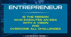 definition of an entrepreneur by Lakshma