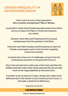 Gender Inequality in Business by Lakshman Singh