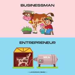 Difference between an Entrepreneur and B