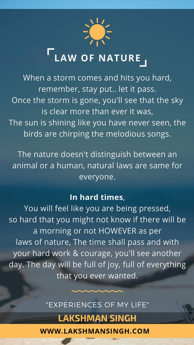 Law of Nature by Lakshman Singh