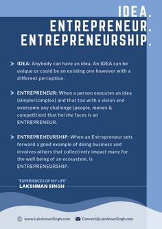 Idea Entrepreneur & Entrepreneurship by Lakshman Singh