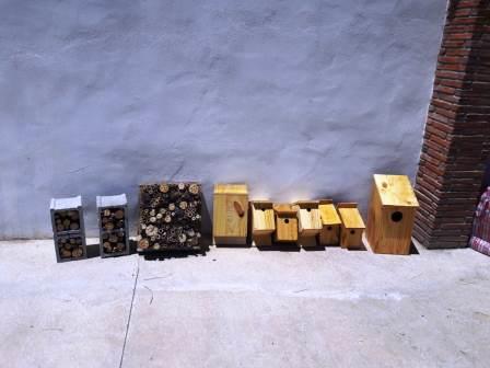 Cajas nido y hoteles de insectos