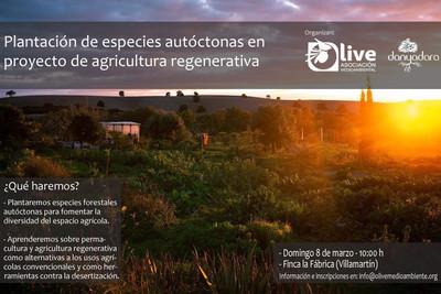 Plantación de especies autóctonas en proyecto de agricultura regenerativa
