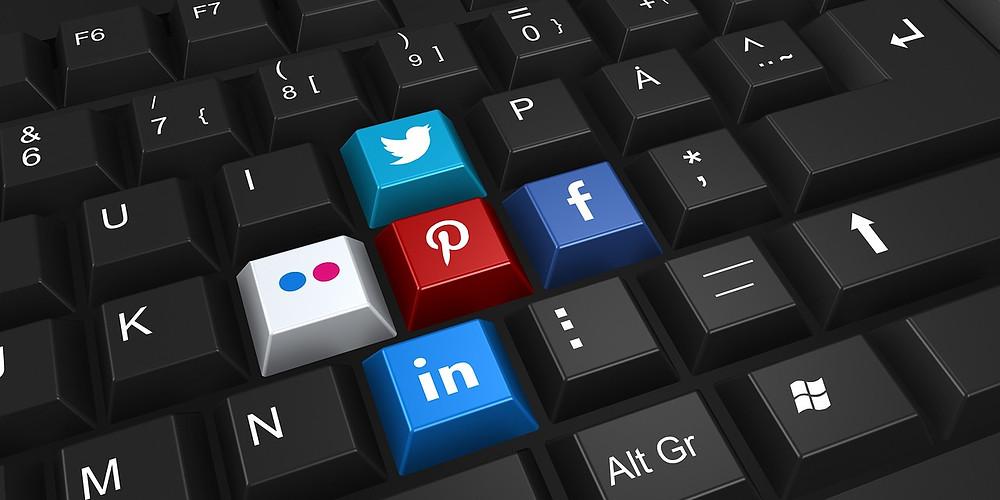 redes sociales teclas