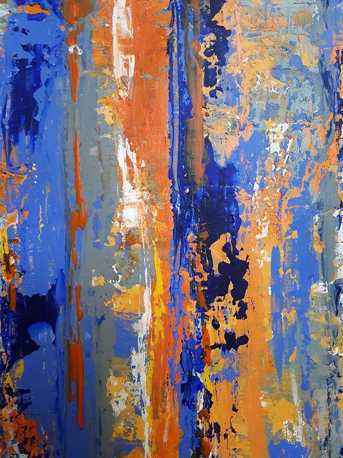 'Illusions of Grandeur - A Brief Escape, Cobalt and Orange'