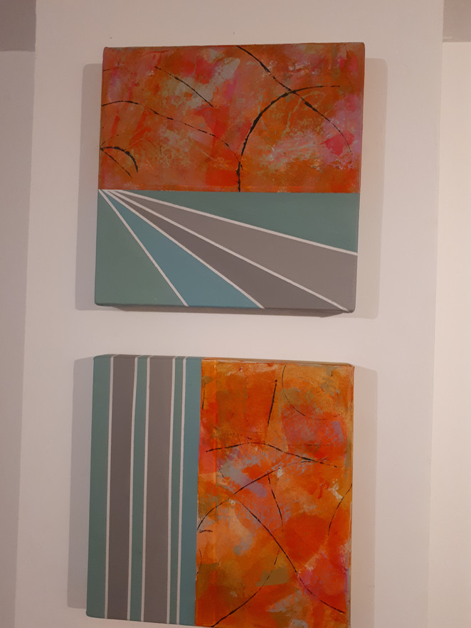 Details of pieces from' I should have waited for the Sun to Rise'