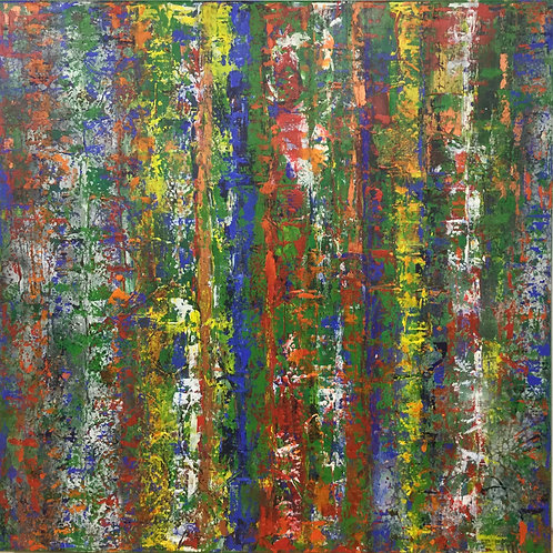 'Illusions of Grandeur' - Blue and Copper Poles