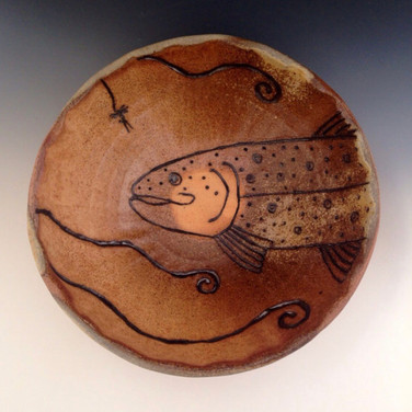 Brown Trout Fly Fishing Bowl