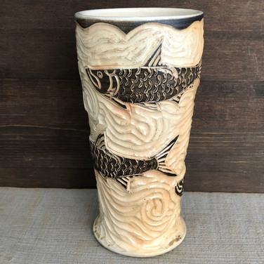 Tarpon Fish Pottery Tumbler.