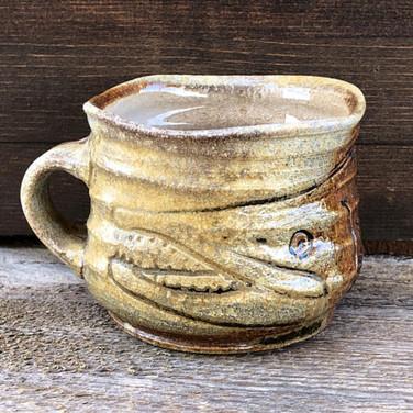 Toothy Salmon Pottery Mug