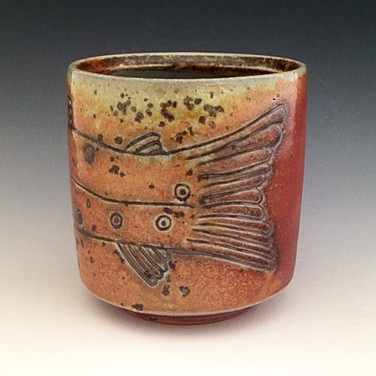 Brown Trout Yunomi, Wood Fired Cup.