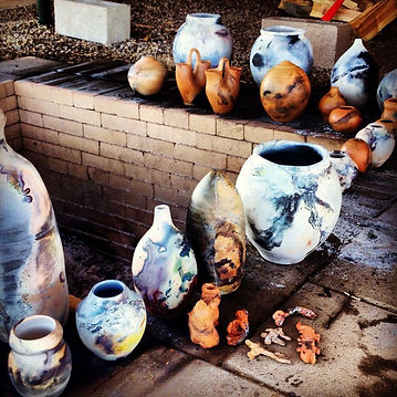pit fired pottery and pit kiln