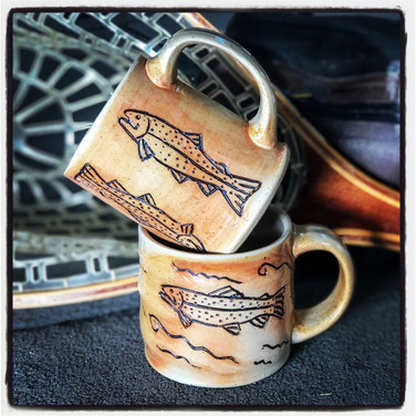 Rainbow Trout Mugs.
