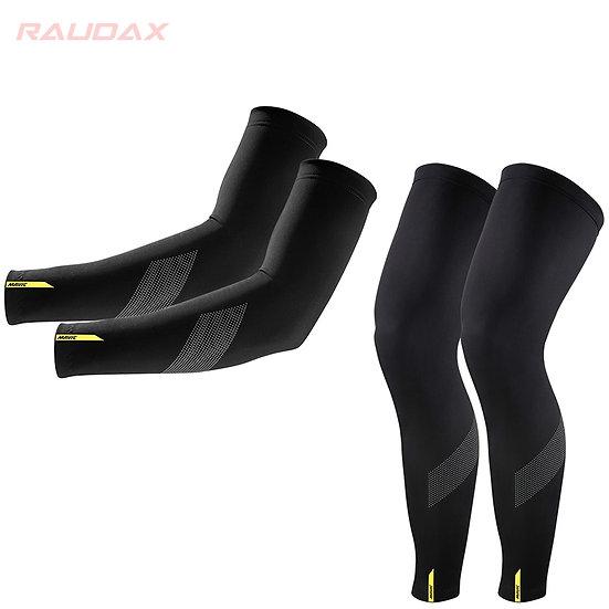 Pro Team MAVIC Cosmic Leg Warmers Black UV Protection
