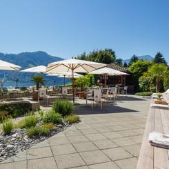 Seehotel Kastanienbaum, Terrasse du lac, restaurant, lac des Quatre-Cantons
