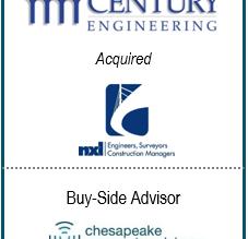 Chesapeake Corporate Advisors Serves as Exclusive Financial Advisor to Century Engineering, Inc. in