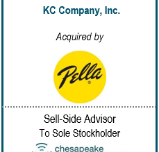 Chesapeake Corporate Advisors Serves as Exclusive Financial Advisor to the Shareholder of K.C. Compa