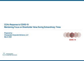 CCA's Response to COVID-19 Maintaining Focus on Shareholder Value During Extraordinary Times