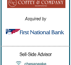 Chesapeake Corporate Advisors Serves as Exclusive Financial Advisor to Coffey & Company, Inc. in