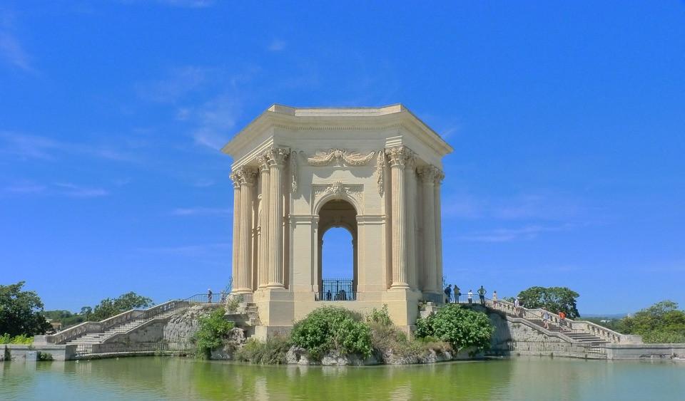 Architecture-Peyrou-Water-Castle-France-