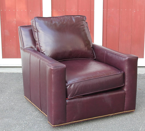 Century Leather Swivel Chair 1