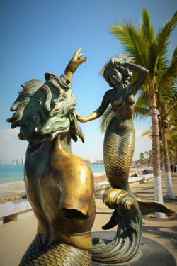 Sculpture in the Bay of Banderas