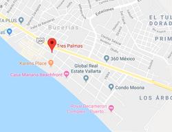 Casita Tres Palmas Bucerias Map