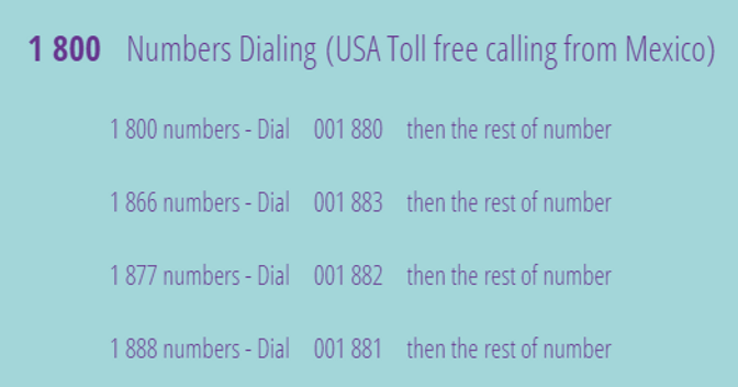 How to Dial 1 800 from Mexico Jody's Buc