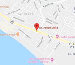 Map Dr Adrian Malja Bucerias