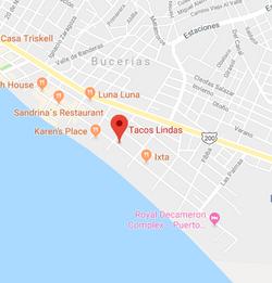 Tacos Linda Bucerias Map