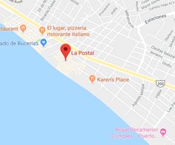 L aPostal Bucerias Map