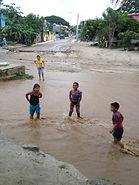 Bucerias Weather, Rainy Season, Children Playing in River. Jody's Bucerias.com