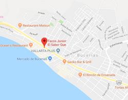Tacos Junior Bucerias Map