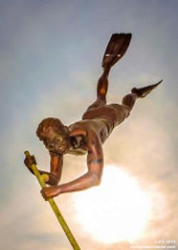 Bucerias Diver Statue Pic
