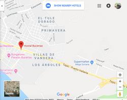 Hostal Bucerias Map