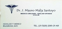 Bussiness Card Dr Mauro