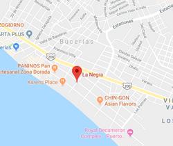 La Negra Bucerias Map