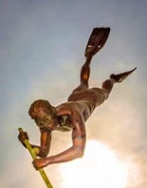 Diver Statue BuceriasNayarit.com