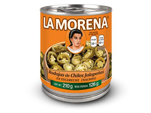 """Rodajas de chiles Jalapeños """"La Morena"""" 210 gr"""