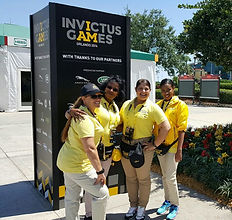 Xiomara Getrouw and other volunteers participating at the Invictus Games in 2016 in Orlando, Florida, U.S.A.