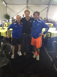 Edwin Vermetten and Prince Harry, Duke of Sussex, at the Invictus Games