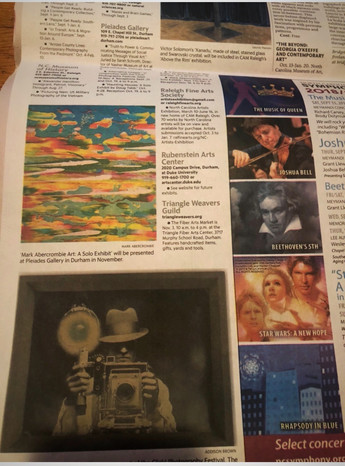 Painting Featured in News & Observer Newspaper