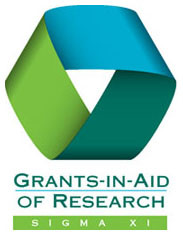 Joanna receives a Sigma Xi Grant in Aid of Research!