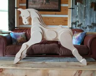 Carving of Medium 'Rocky' horse in Progress!!!!