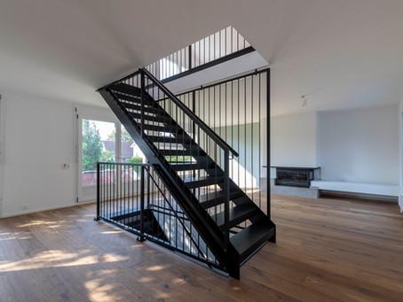 Stahltreppe im Innenbereich