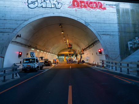 Fahrbahnbeleuchtung Schänzlitunnel