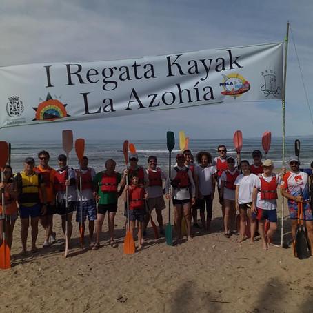 foto de la regata kayak de mar la azohia